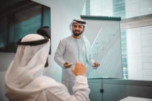 Businessmeeting im Oman
