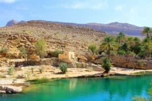Wasser in Wadi Bani Khalid, Oman